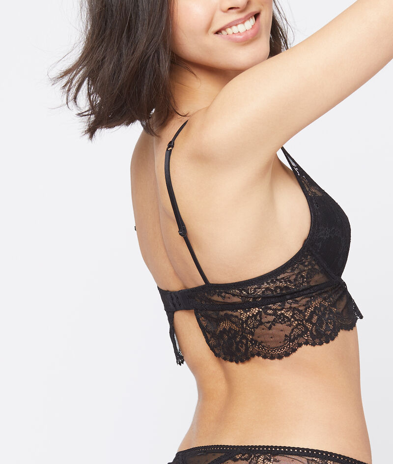 Bra n°3: Floral lace triangle push-up;${refinementColor}