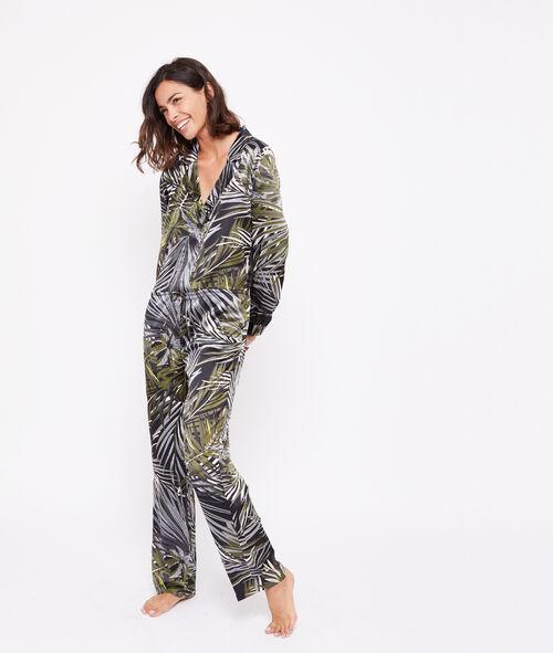 Leaves print jumpsuit