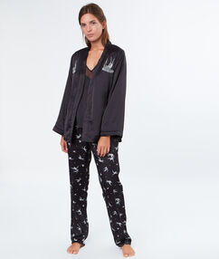 3 pieces pyjama black.