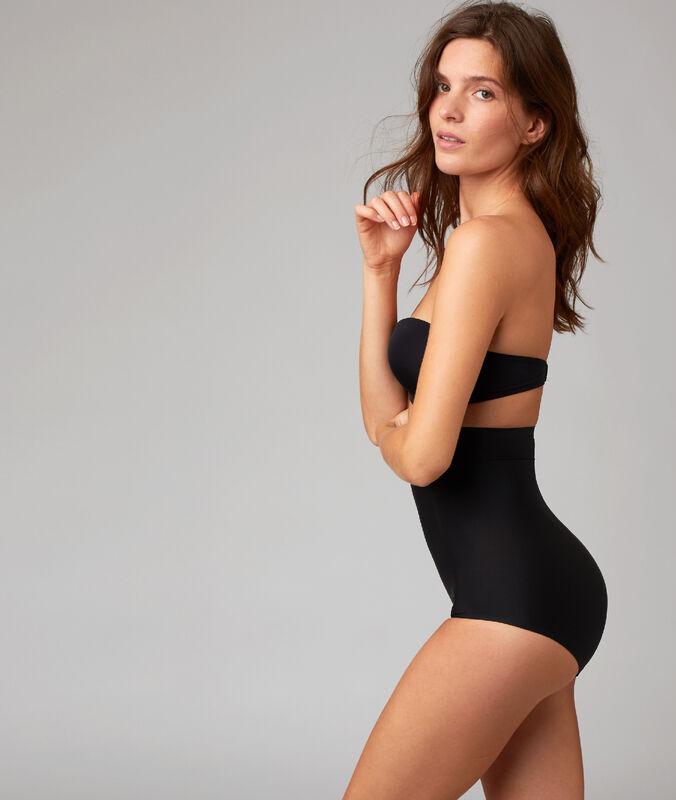 High-waist briefs black.