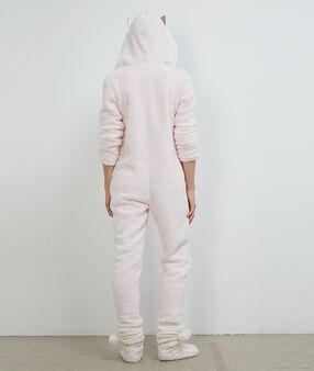 Cat onesie pink.