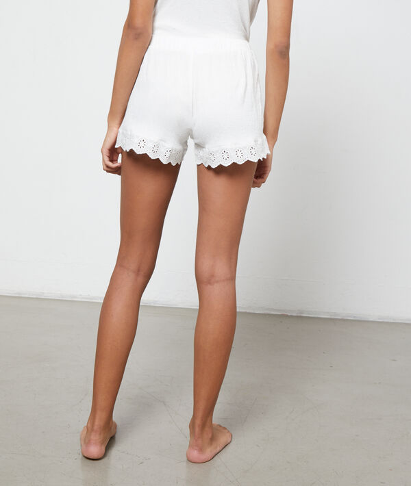Embroidered shorts;${refinementColor}