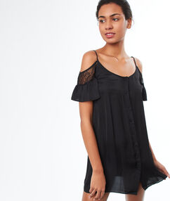 Off shoulder nightdress black.