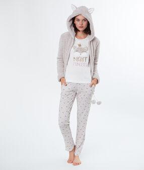 3 pieces pyjama beige.