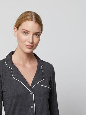 Pyjama shirt anthracite.