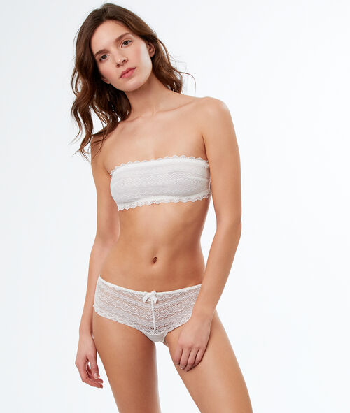 Lace strapless bra