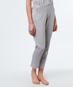 Printed trousers gray.