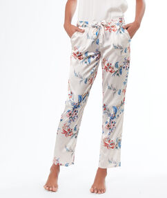 Printed pants white.