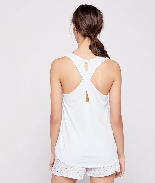 sleep and shine' vest, open back