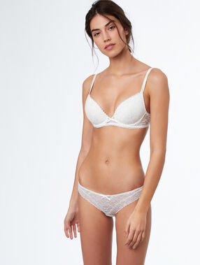 Soutien-gorge n°2 - push up plongeant off-white.