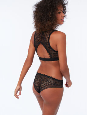 Lace hipsters black.