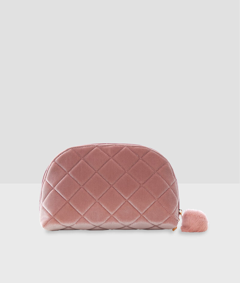 Toiletry bag with pompom;${refinementColor}