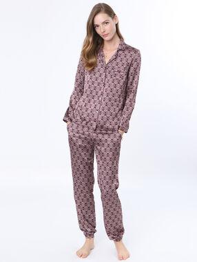 Pyjama shirt burgundy.