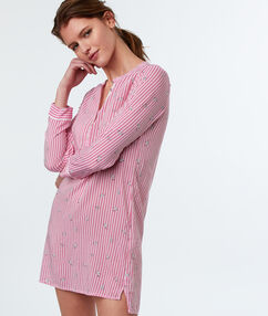 Striped nightdress pink.