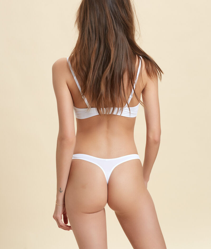 Micro thong, thermal bound trim;${refinementColor}