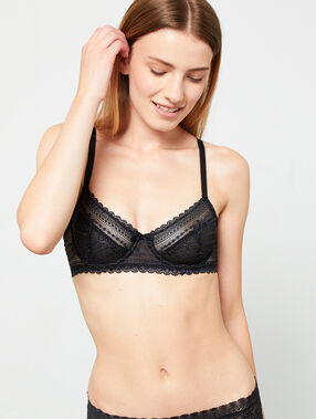 Lace bra, no padding black.