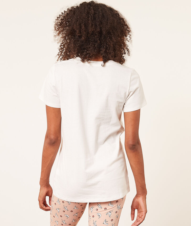 Print short-sleeved top;${refinementColor}