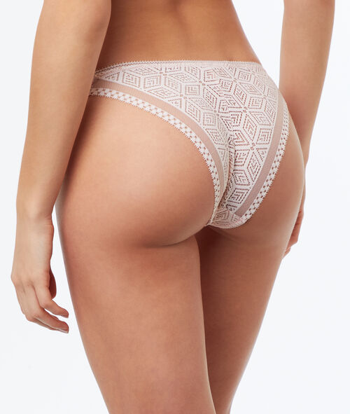 Graphic lace knickers, mesh details