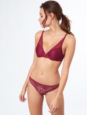 Triangle bra purple.