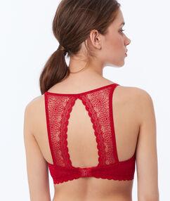 Light padded lace bra red.