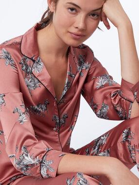 Camisa pijama estampado cebras rosa.