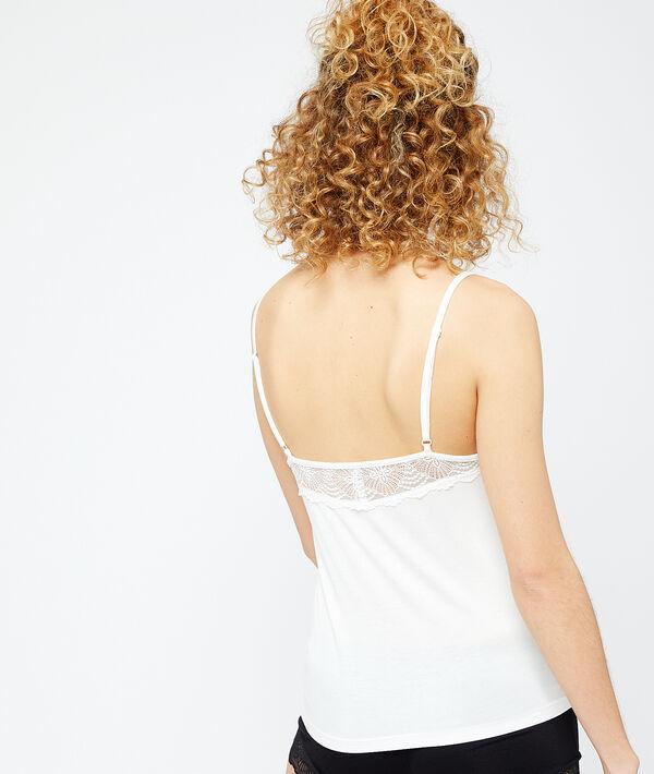 Lace trim top;${refinementColor}