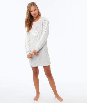 Lounge jumper dress ecru.