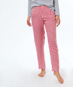 Pyjama pants red.