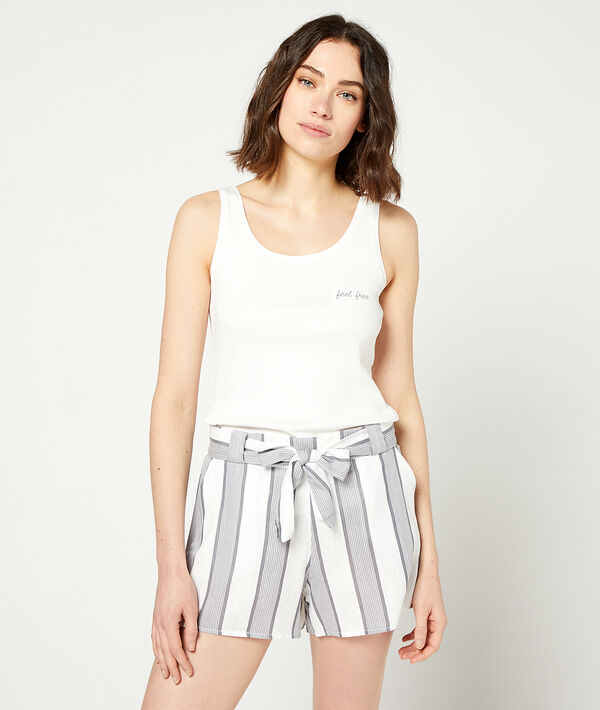 Shorts with tie detail;${refinementColor}