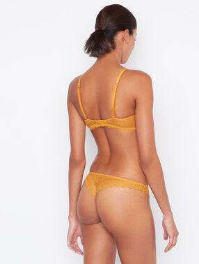 Lace tanga yellow.