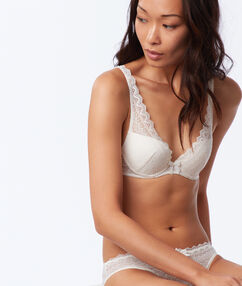 Soutien-gorge n°3 - triangle push up off-white.