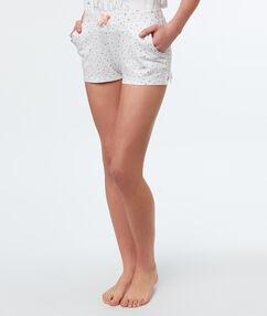 Printed shorts white.