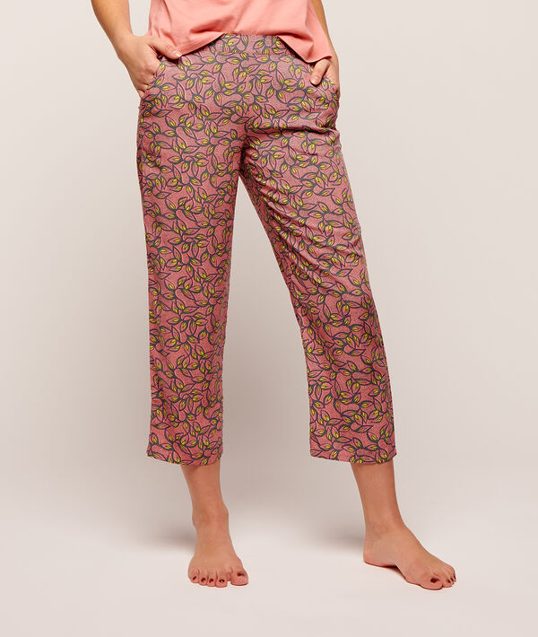 Printed crop trousers ;${refinementColor}