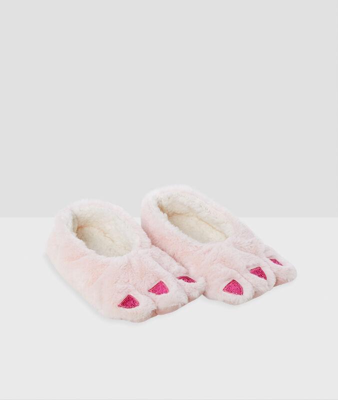 Pantofole morbide fantasia rosa.