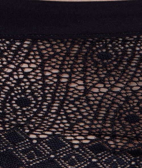 Chiffon and ornate lace hipsters
