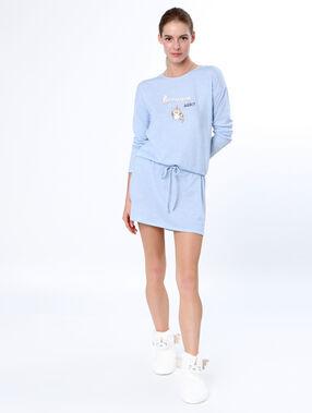Unicorn printed nightdress blue.