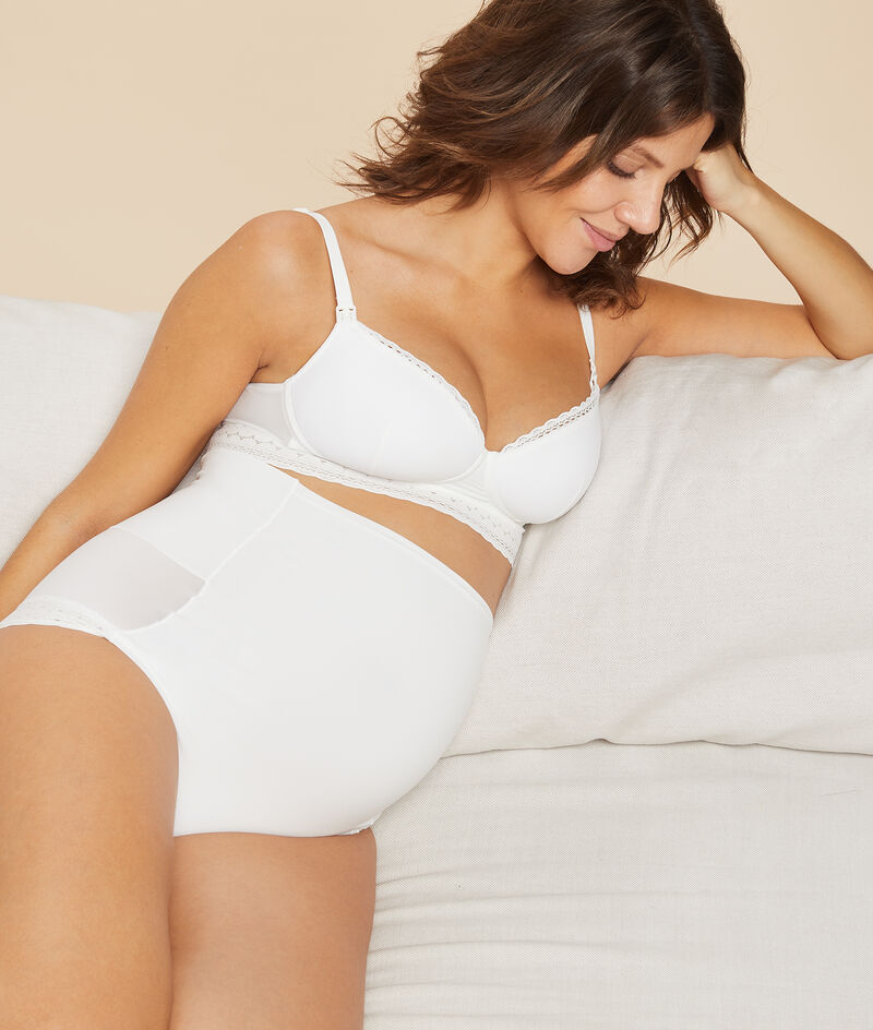Thin cup bra, nursing clips;${refinementColor}