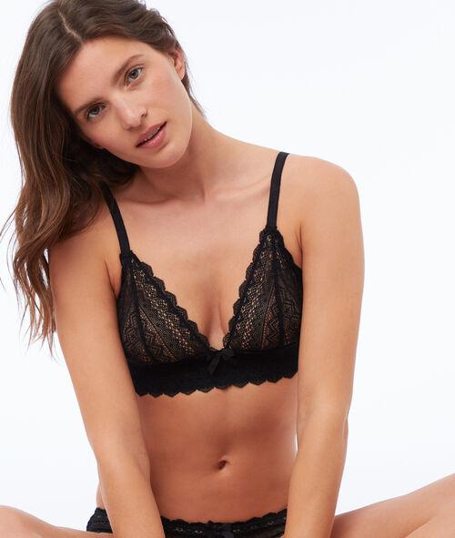 Lace wireless triangle bra