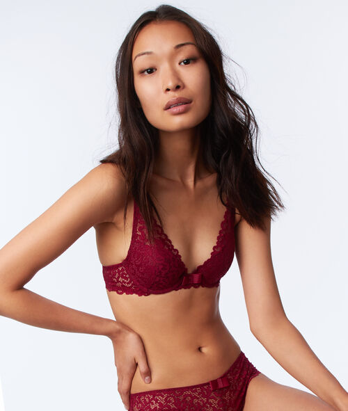 Bra No. 3 - Lace triangle push-up bra