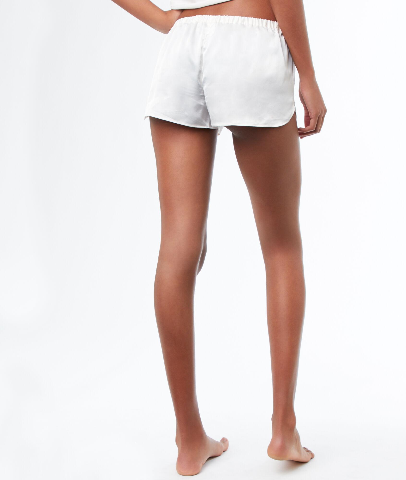 761f22f7b1 Pantalón corto estampado floral - VAHINE - BLANCO - Etam