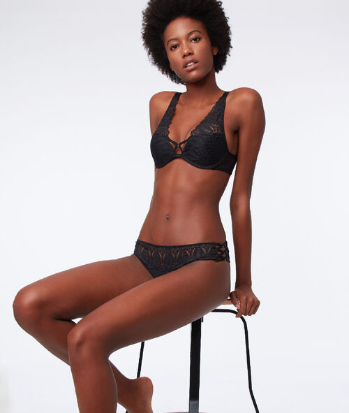 Lace knickers with ties