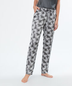 Satine printed pyjama pants kakhi.