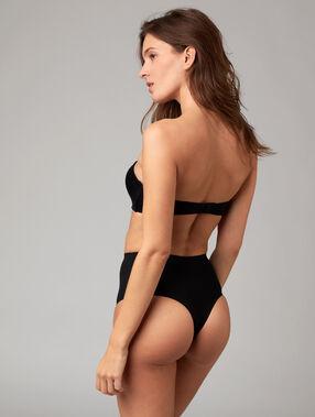 High waist thong: level 3 - figure shaping black.