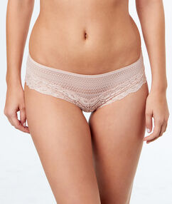 Lace shortys blush.