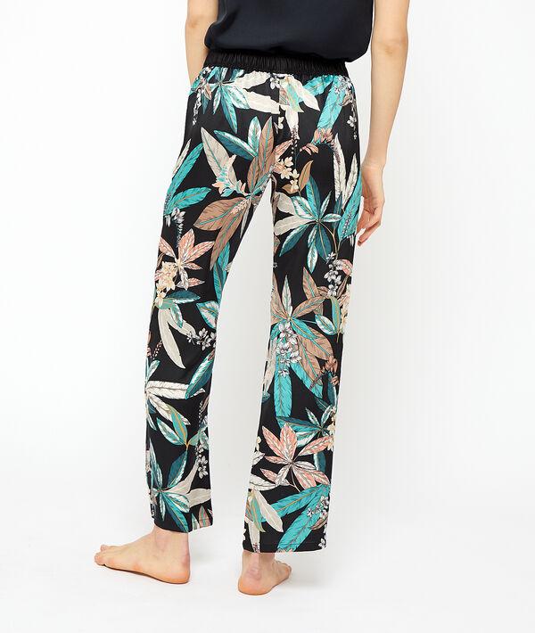 Foliage print trousers