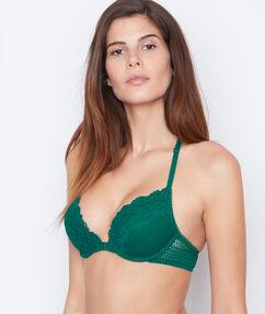 Lace magic up® bra green.