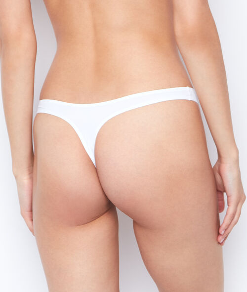 Micro thong, thermal bound trim