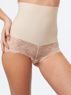 High waist briefs - level 3: figure shaping nude.