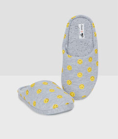 Smiley slippers grey.