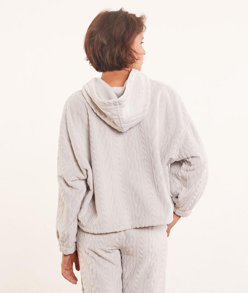 Hooded fleece sweater ;${refinementColor}